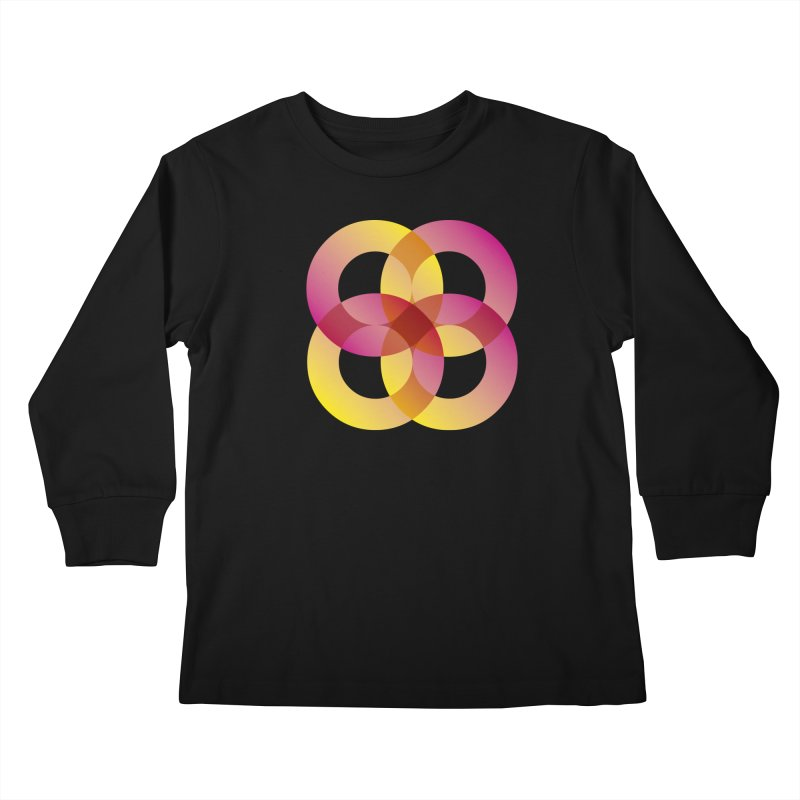Power Rings Kids Longsleeve T-Shirt by virbia's Artist Shop