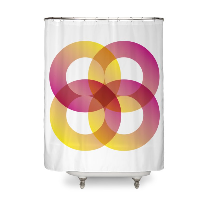 Power Rings Home Shower Curtain by virbia's Artist Shop