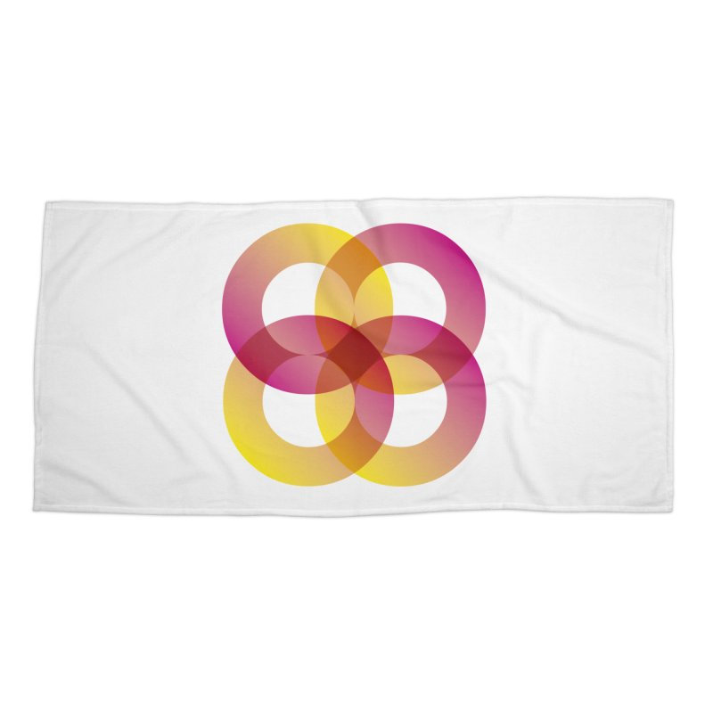 Power Rings Accessories Beach Towel by virbia's Artist Shop