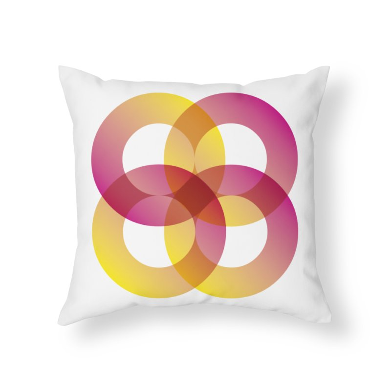 Power Rings Home Throw Pillow by virbia's Artist Shop