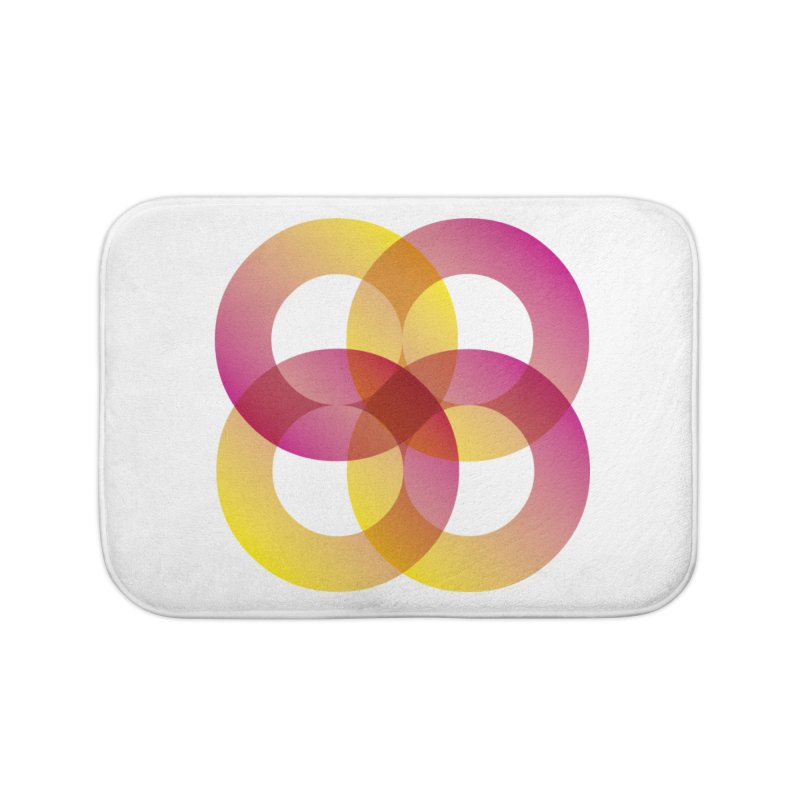 Power Rings Home Bath Mat by virbia's Artist Shop