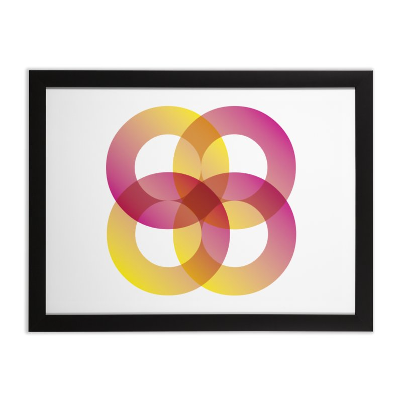 Power Rings Home Framed Fine Art Print by virbia's Artist Shop