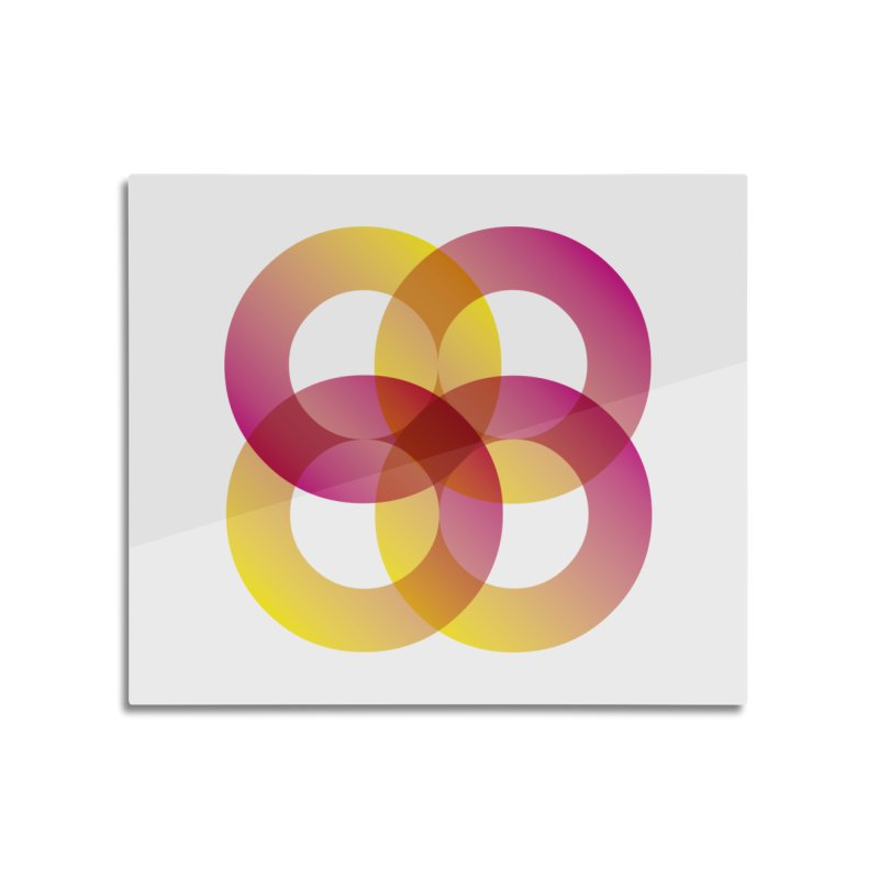 Power Rings Home Mounted Aluminum Print by virbia's Artist Shop