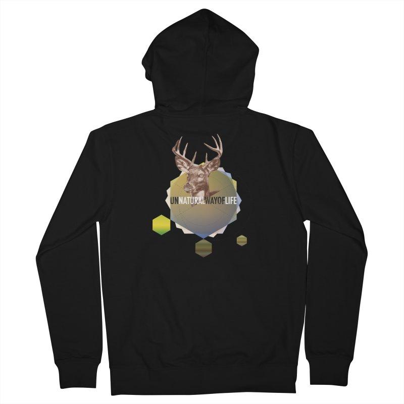 Magic Deer Men's Zip-Up Hoody by virbia's Artist Shop