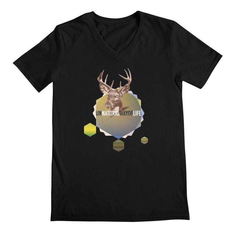 Magic Deer Men's V-Neck by virbia's Artist Shop