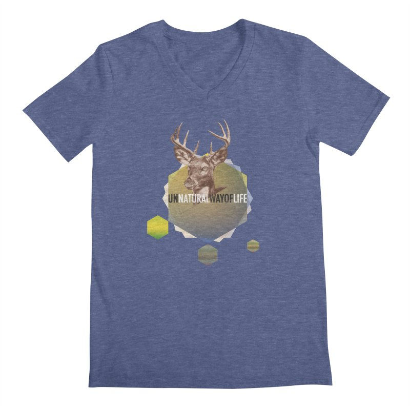 Magic Deer Men's V-Neck by virbia's Artist Shop