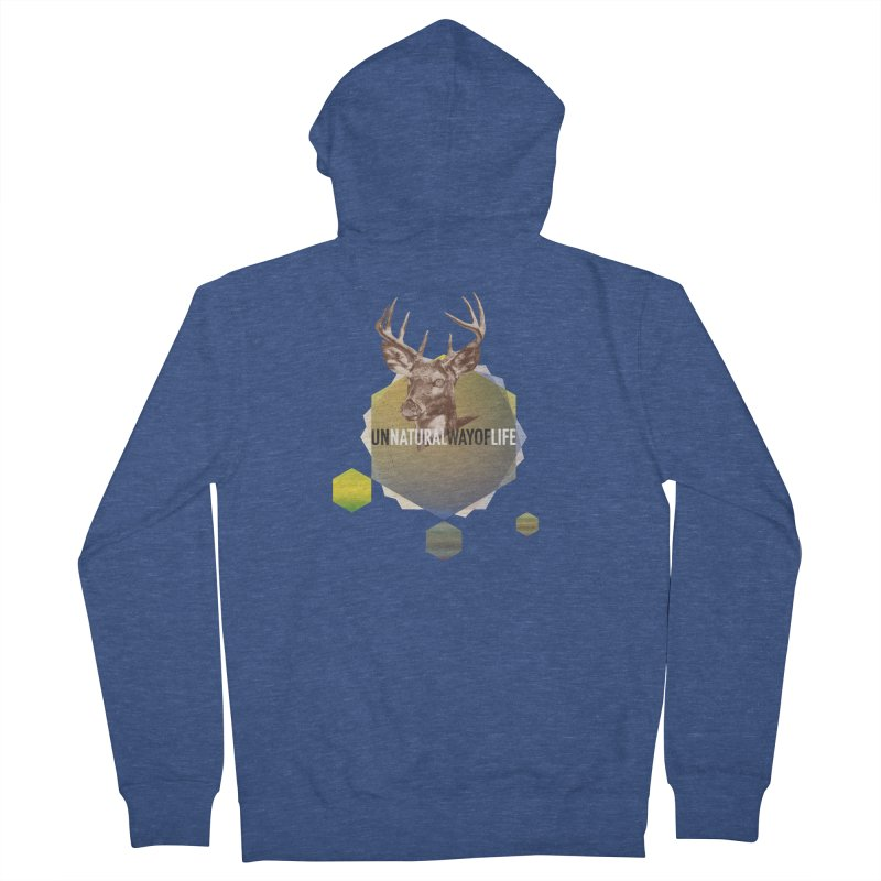 Magic Deer Men's Zip-Up Hoody by virbia's Artist Shop