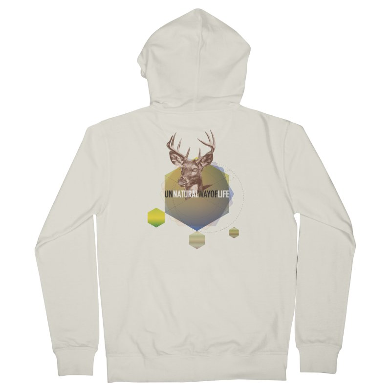 Magic Deer Men's French Terry Zip-Up Hoody by virbia's Artist Shop