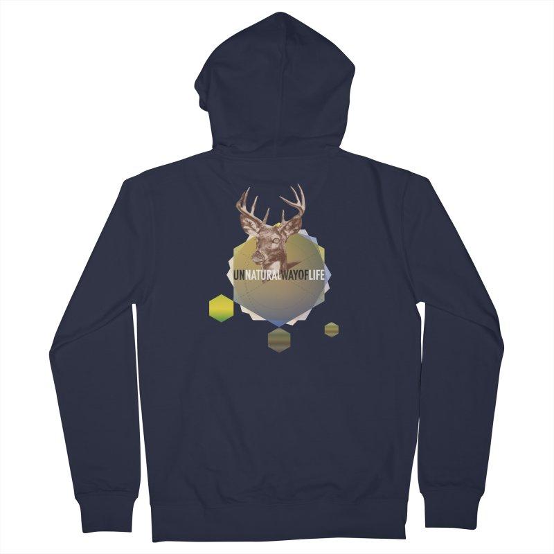 Magic Deer Men's French Terry Zip-Up Hoody by virbia's Artist Shop