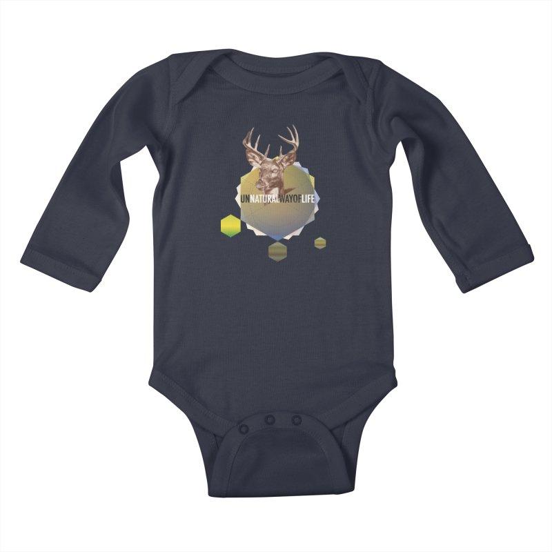 Magic Deer Kids Baby Longsleeve Bodysuit by virbia's Artist Shop