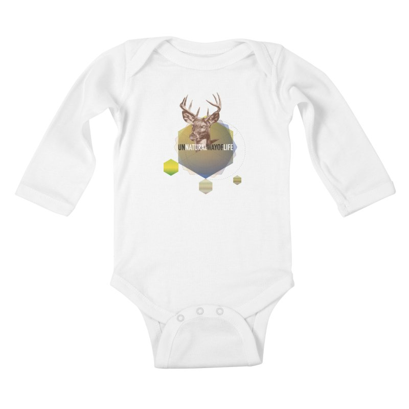 Magic Deer Kids Baby Longsleeve Bodysuit by virbia's Artist Shop