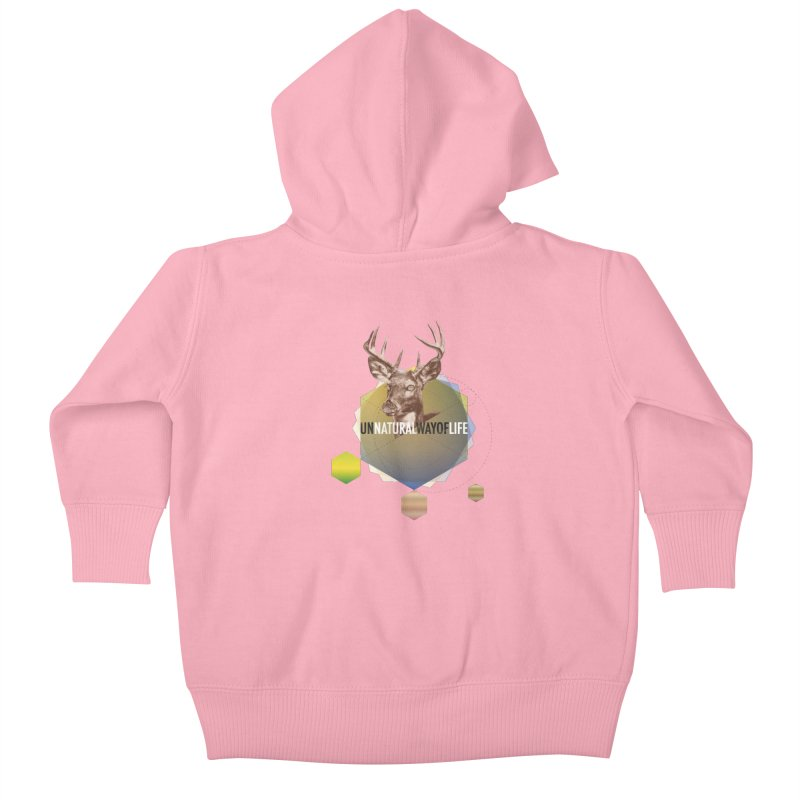 Magic Deer Kids Baby Zip-Up Hoody by virbia's Artist Shop