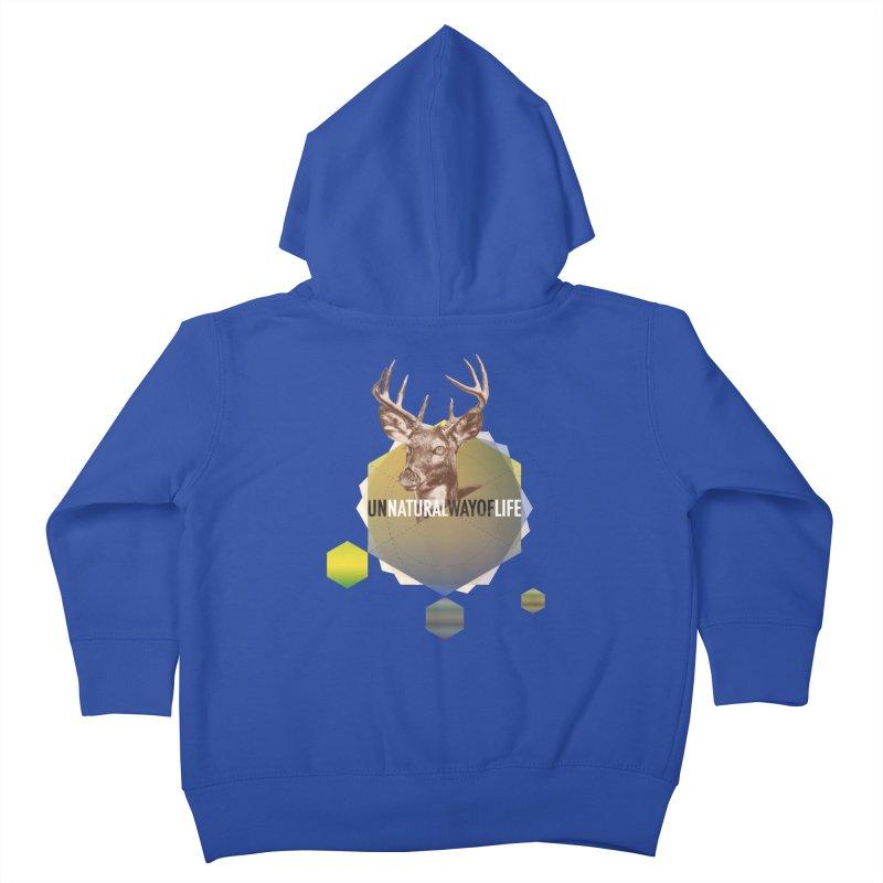 Magic Deer Kids Toddler Zip-Up Hoody by virbia's Artist Shop
