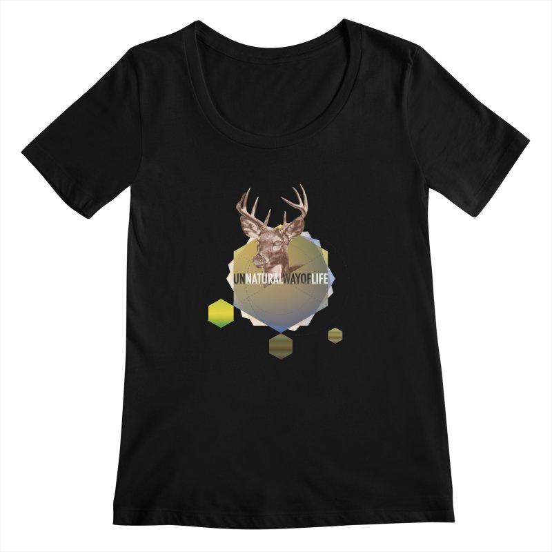 Magic Deer Women's Regular Scoop Neck by virbia's Artist Shop