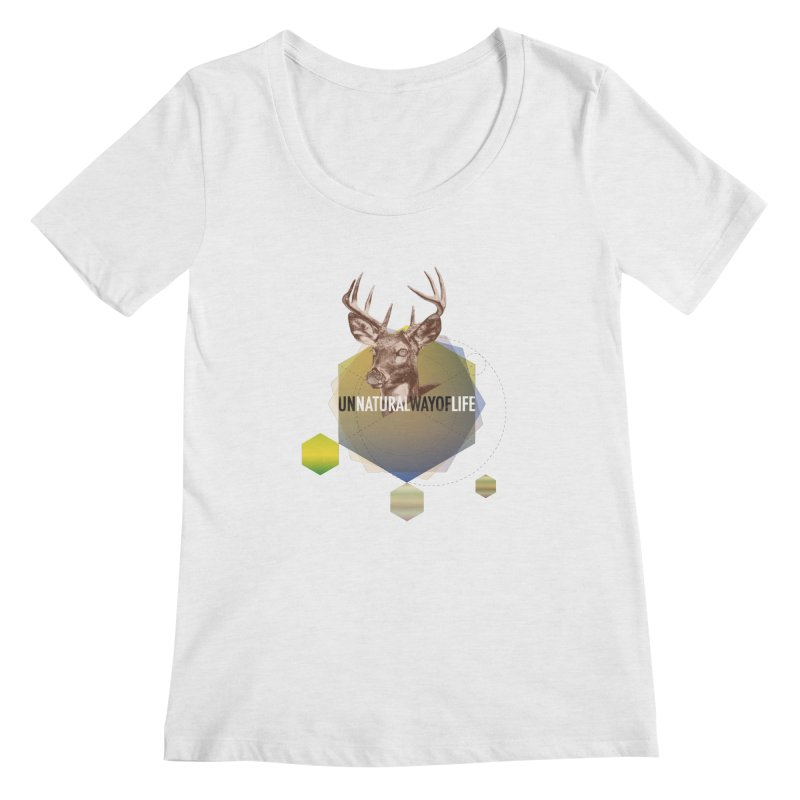 Magic Deer Women's Scoop Neck by virbia's Artist Shop