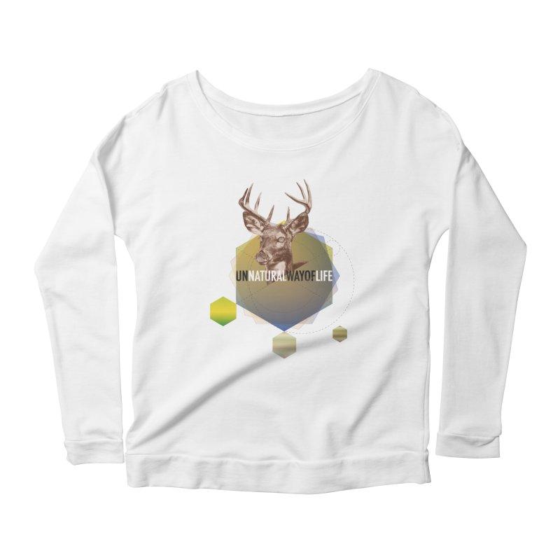Magic Deer Women's Scoop Neck Longsleeve T-Shirt by virbia's Artist Shop