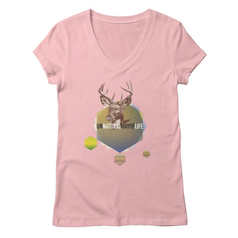 Magic Deer Women's Regular V-Neck by virbia's Artist Shop