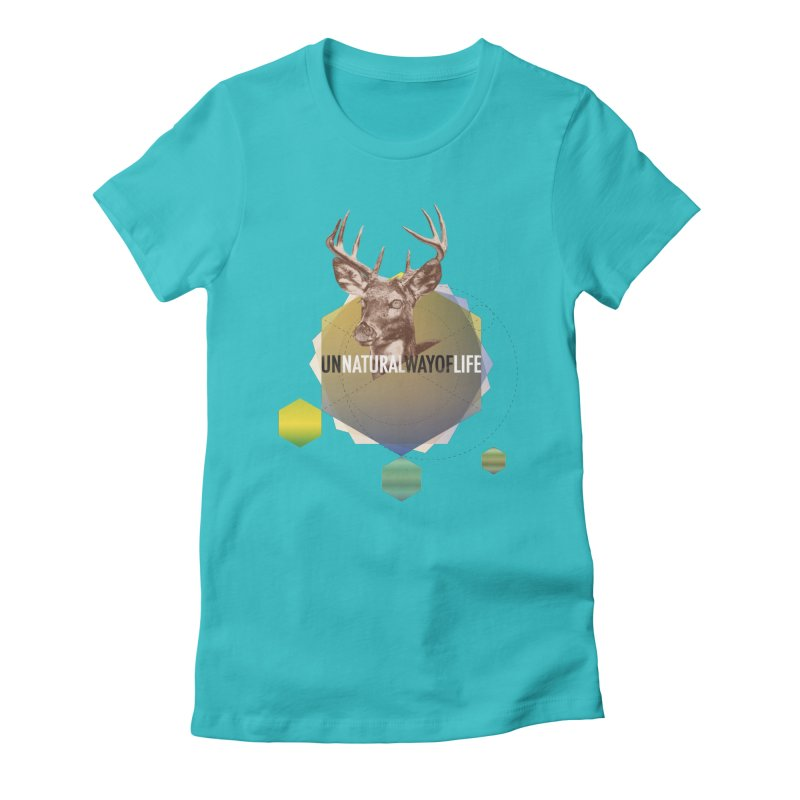 Magic Deer Women's Fitted T-Shirt by virbia's Artist Shop