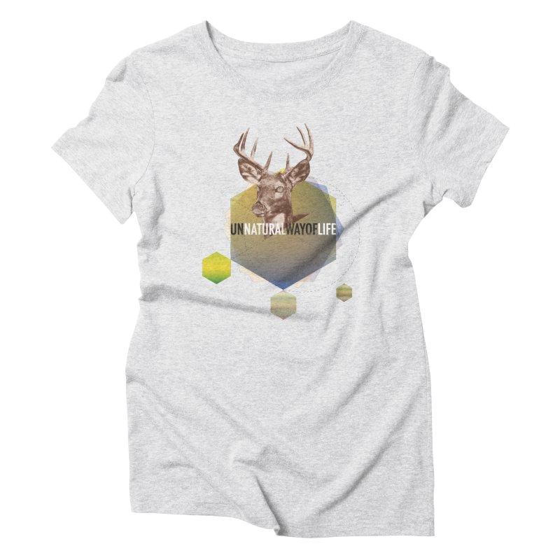 Magic Deer Women's Triblend T-Shirt by virbia's Artist Shop