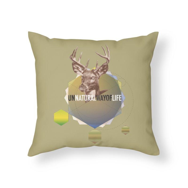 Magic Deer Home Throw Pillow by virbia's Artist Shop