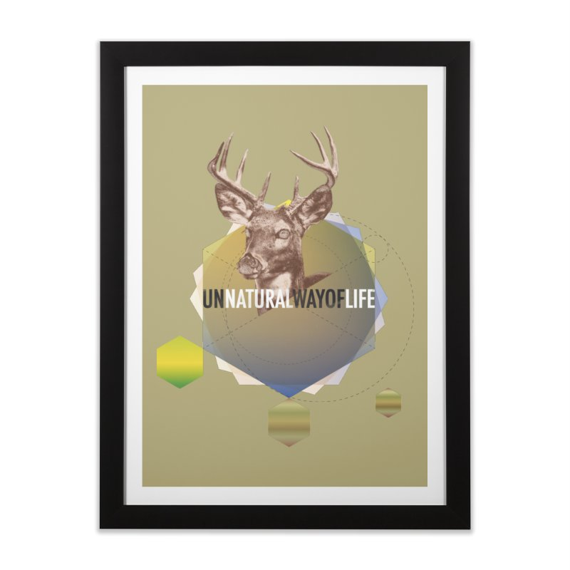 Magic Deer Home Framed Fine Art Print by virbia's Artist Shop