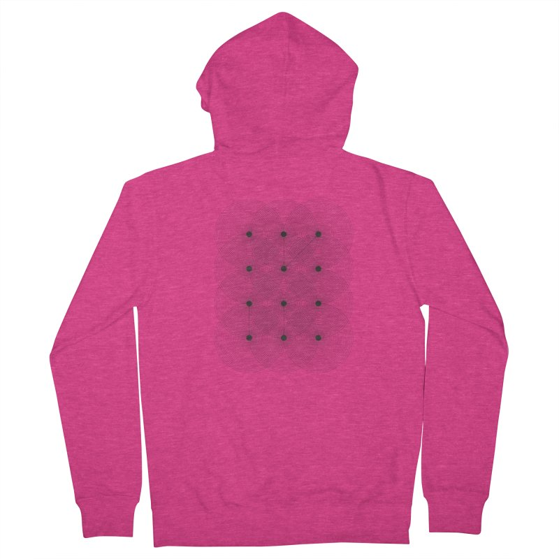 geometrical distortion 1 Women's French Terry Zip-Up Hoody by virbia's Artist Shop