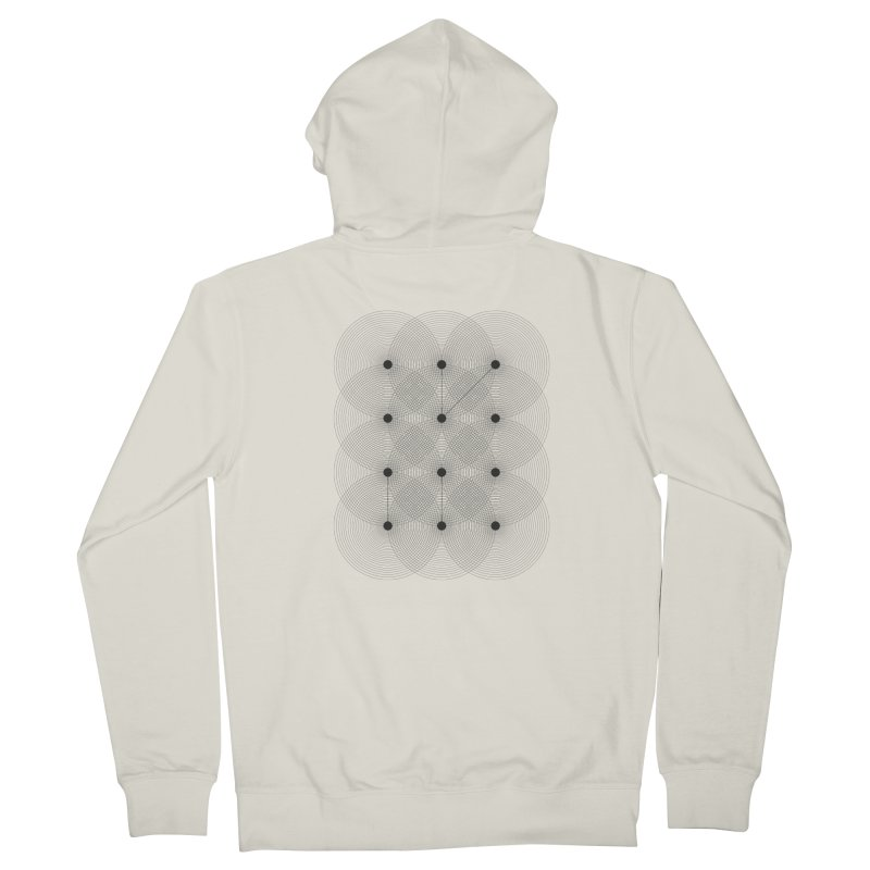 geometrical distortion 1 Men's French Terry Zip-Up Hoody by virbia's Artist Shop