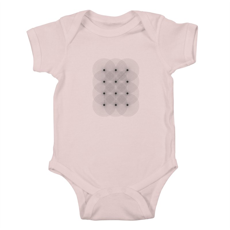 geometrical distortion 1 Kids Baby Bodysuit by virbia's Artist Shop
