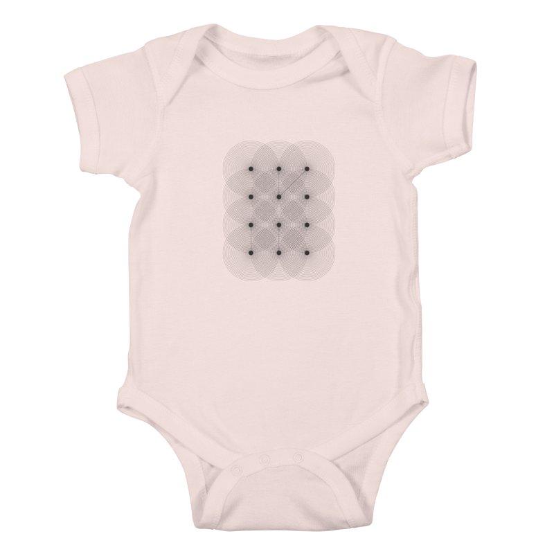 geometrical distortion 1 Kids Baby Bodysuit by virbia's Artist Shop