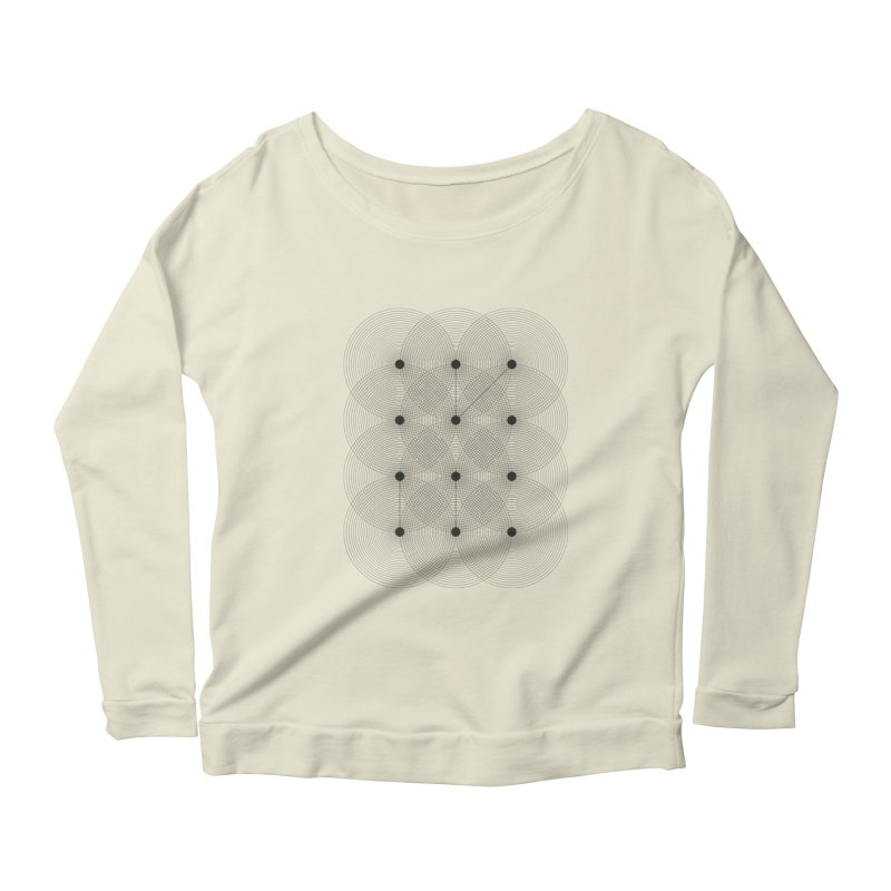 geometrical distortion 1 Women's Scoop Neck Longsleeve T-Shirt by virbia's Artist Shop