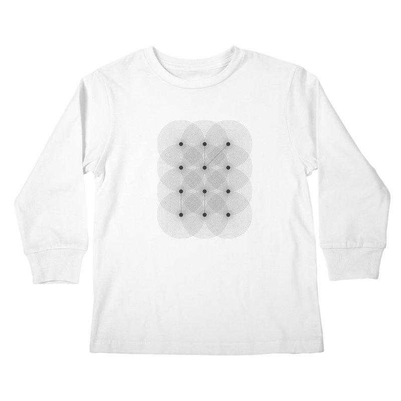 geometrical distortion 1 Kids Longsleeve T-Shirt by virbia's Artist Shop
