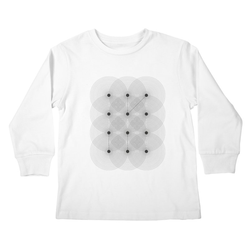 geometrical distortion 1 Kids Longsleeve T-Shirt by virbia's Artist Shop