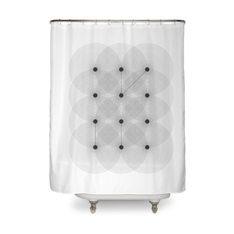 geometrical distortion 1 Home Shower Curtain by virbia's Artist Shop
