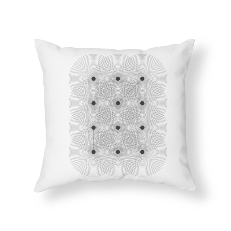 geometrical distortion 1 Home Throw Pillow by virbia's Artist Shop
