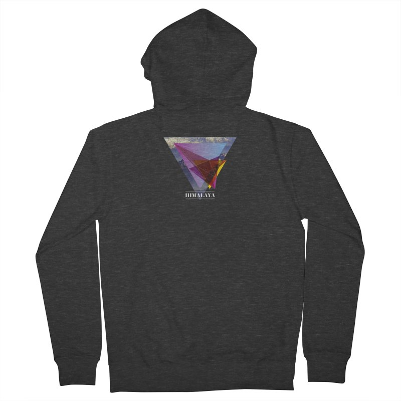 Himalaya Men's French Terry Zip-Up Hoody by virbia's Artist Shop