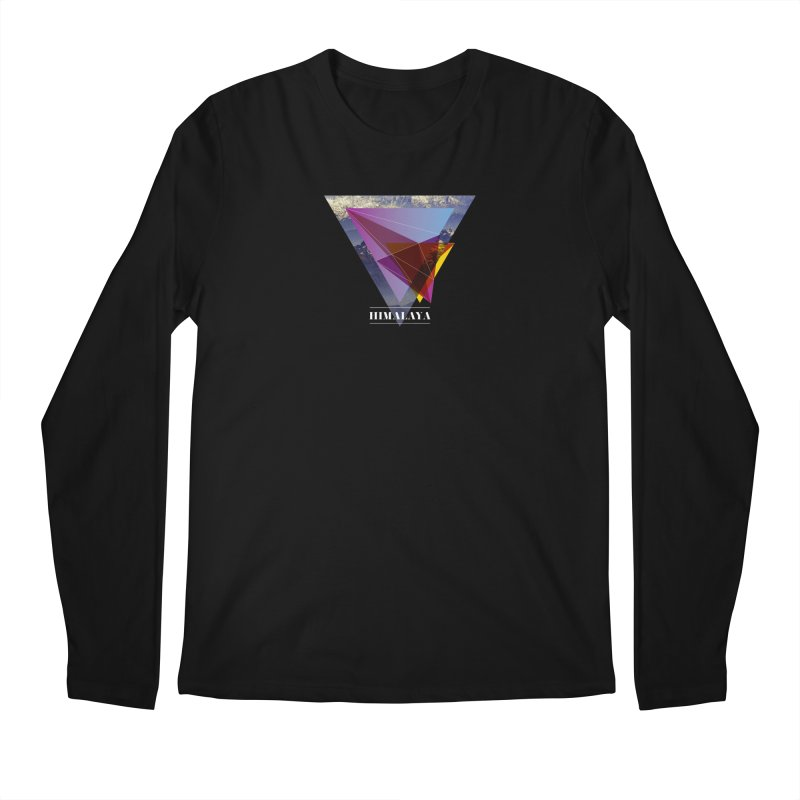 Himalaya Men's Regular Longsleeve T-Shirt by virbia's Artist Shop