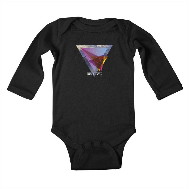 Himalaya Kids Baby Longsleeve Bodysuit by virbia's Artist Shop