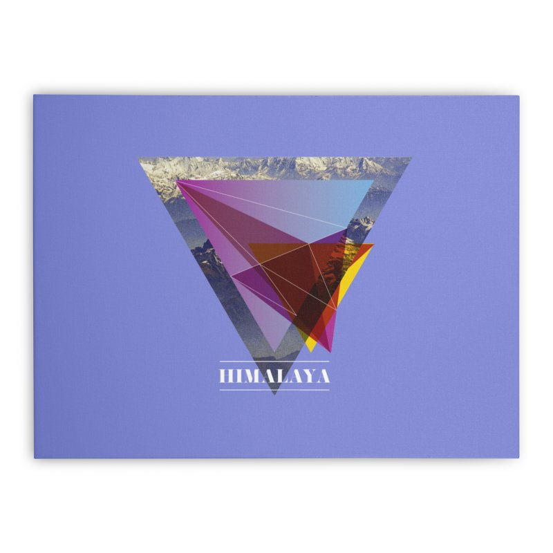 Himalaya Home Stretched Canvas by virbia's Artist Shop
