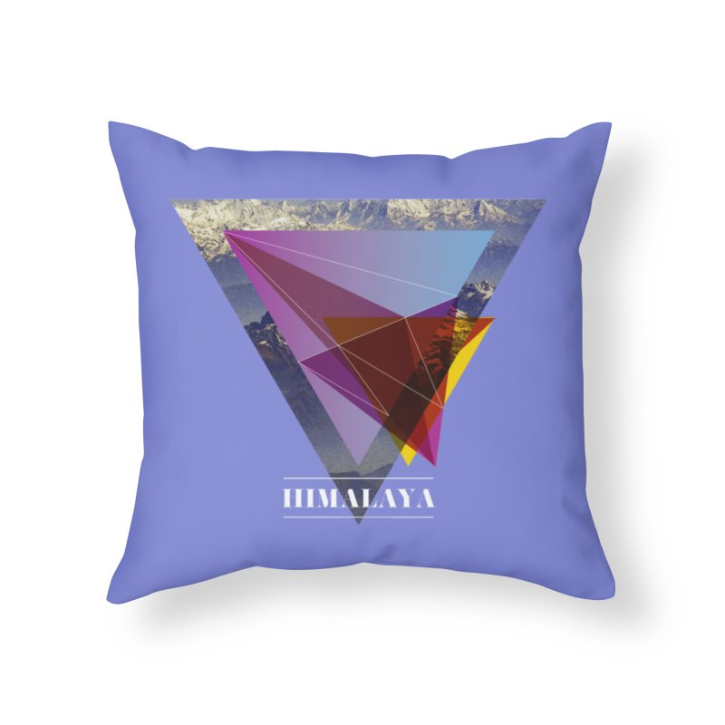 Himalaya Home Throw Pillow by virbia's Artist Shop