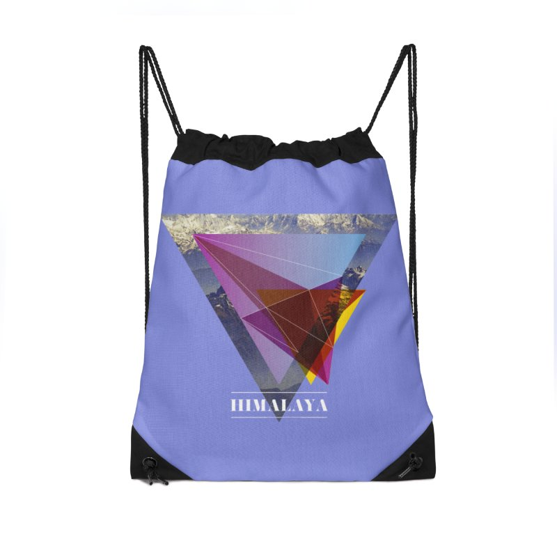 Himalaya Accessories Drawstring Bag Bag by virbia's Artist Shop