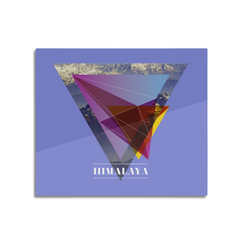 Himalaya Home Mounted Aluminum Print by virbia's Artist Shop