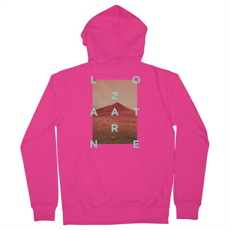 Lanzarote Canarian Island Men's French Terry Zip-Up Hoody by virbia's Artist Shop