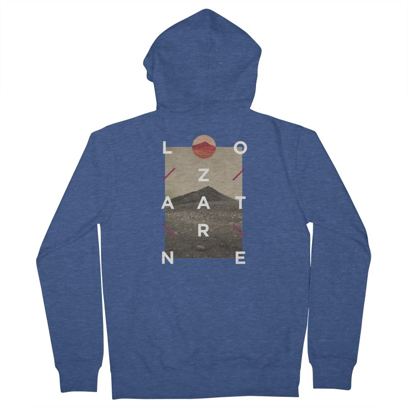 Lanzarote Canarian Island 3 Men's French Terry Zip-Up Hoody by virbia's Artist Shop