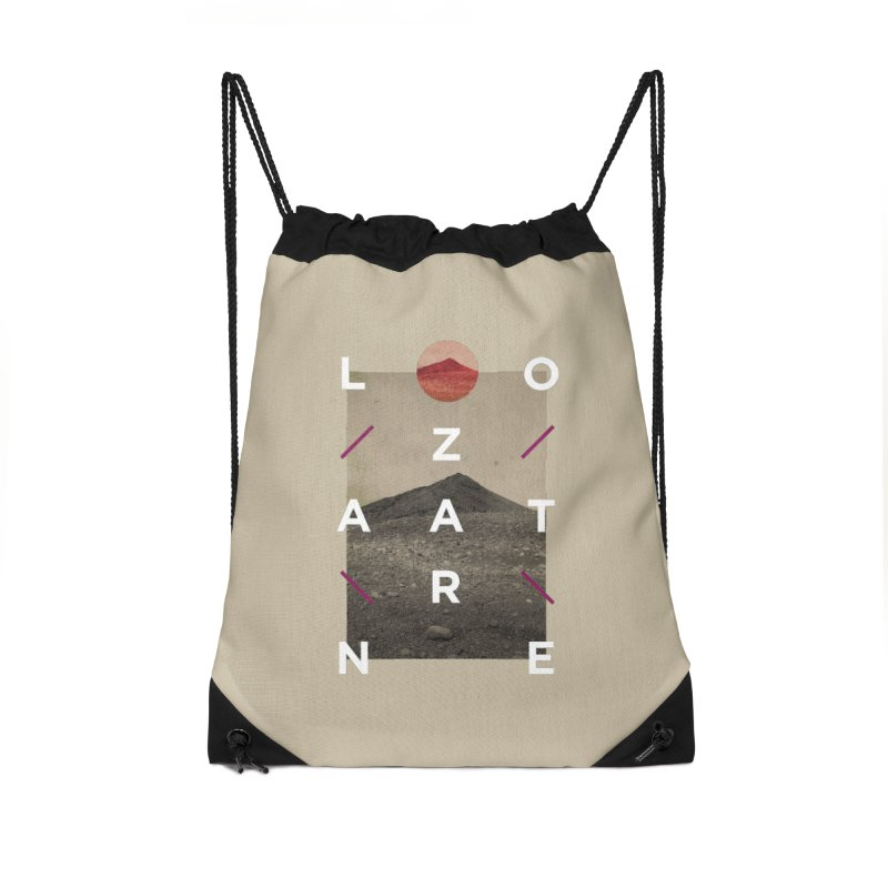 Lanzarote Canarian Island 3 Accessories Drawstring Bag Bag by virbia's Artist Shop