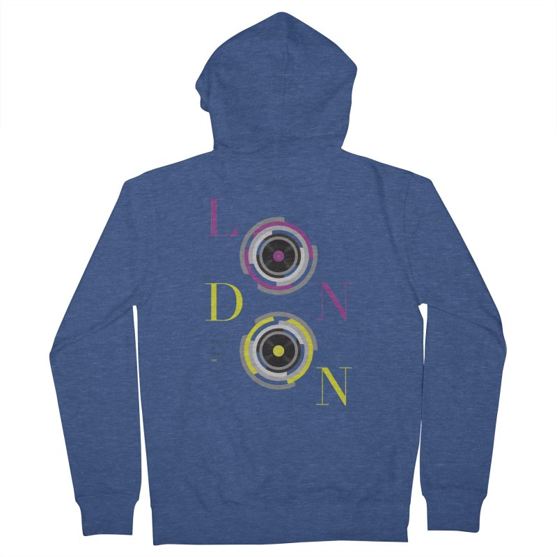 London always on Men's Zip-Up Hoody by virbia's Artist Shop