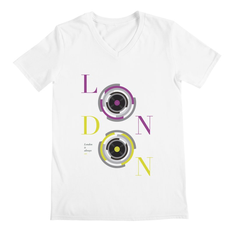 London always on Men's V-Neck by virbia's Artist Shop
