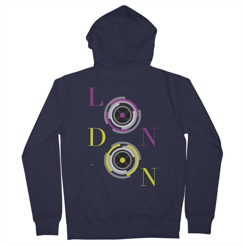 London always on Women's Zip-Up Hoody by virbia's Artist Shop