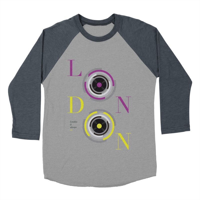 London always on Women's Baseball Triblend Longsleeve T-Shirt by virbia's Artist Shop