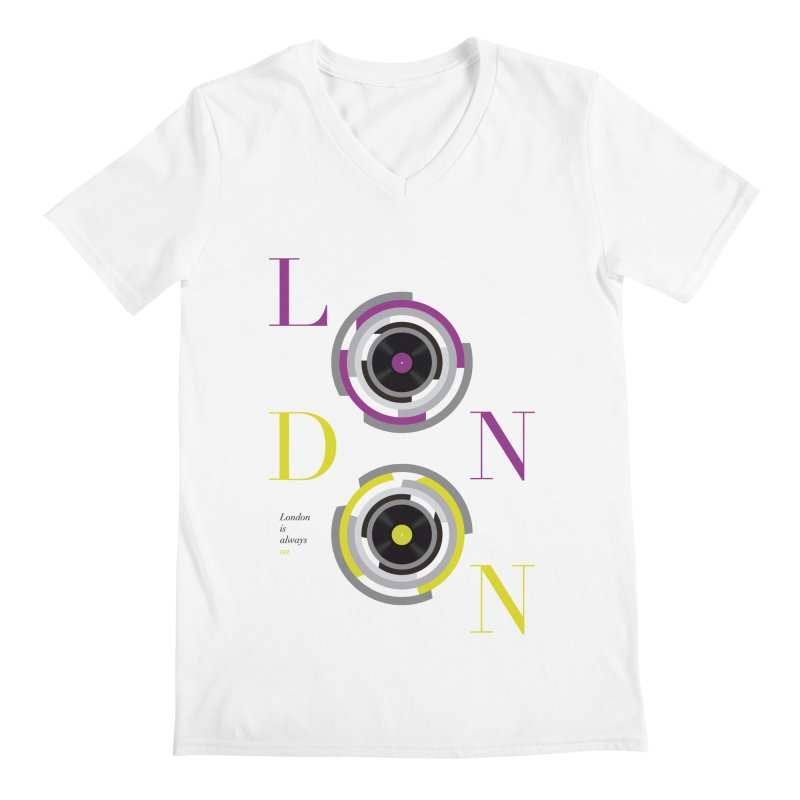 London always on Men's Regular V-Neck by virbia's Artist Shop
