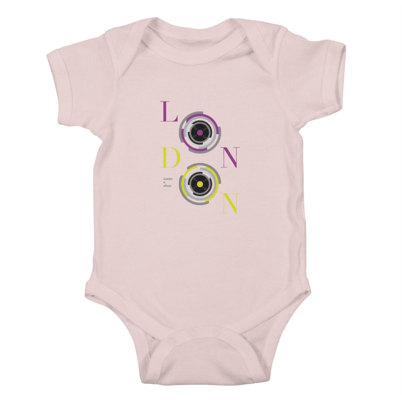 London always on Kids Baby Bodysuit by virbia's Artist Shop